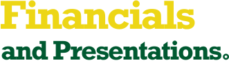 Financials and Presentations