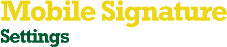 Mobile Signature Settings