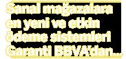 Sanal mağazalara en yeni ve etkin ödeme sistemleri Garanti'den...