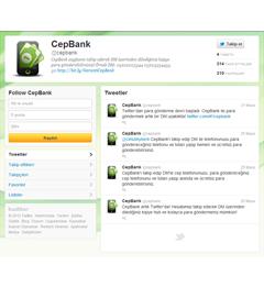 CepBank Twitter Uygulaması