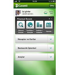 Garanti Cep Şubesi iPhone Uygulaması