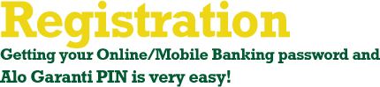 Get your Internet/Mobile Banking Password