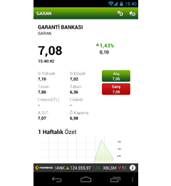 e-Trader Android Uygulaması